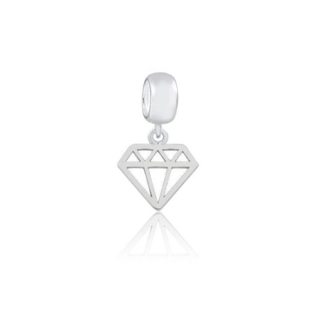 Berloque de Prata Mini Diamante