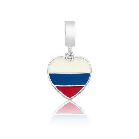 Berloque de Prata Bandeira da Rússia
