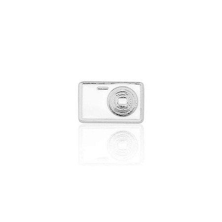 Mini Locket de Prata Câmera Fotográfica