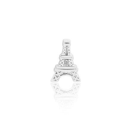 Mini Locket de Prata Torre Eiffel Paris