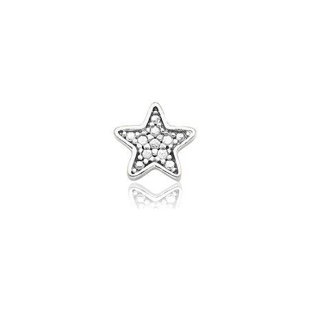 Mini Locket de Prata Estrela