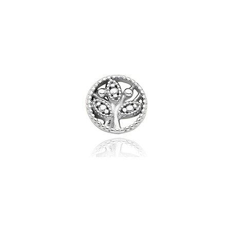 Mini Locket de Prata Árvore da Vida