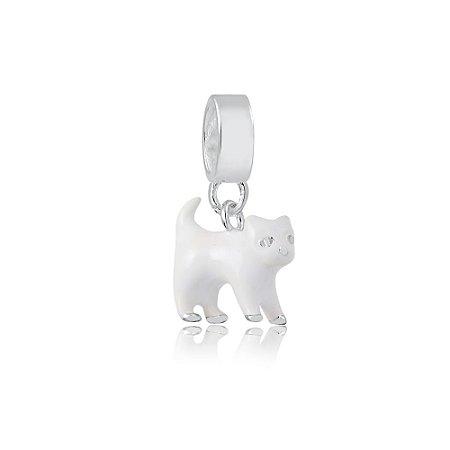 Berloque de Prata Gato Branco
