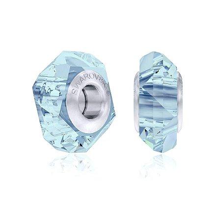 Berloque Swarovski Separador Cristal Azul Claro