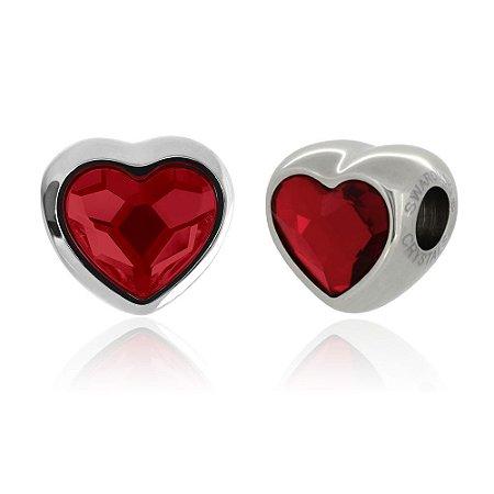 Berloque Swarovski Coração Vermelho
