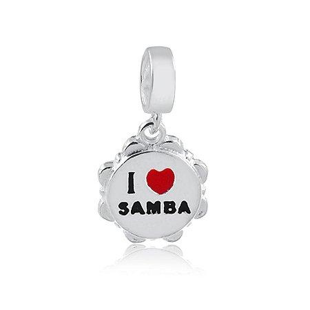 Berloque de Prata Pandeiro Samba