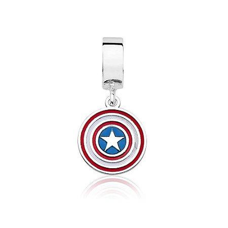 Berloque de Prata Pingente Capitão América