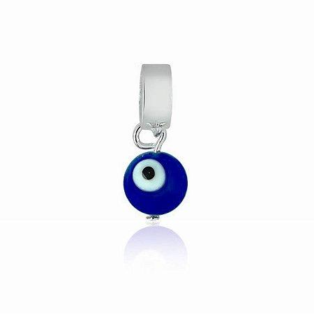 Berloque de Prata Pingente Olho Grego Bolinha