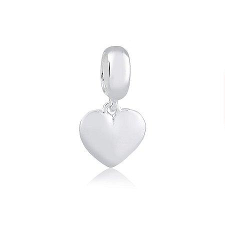 Berloque de Prata Pingente Coração