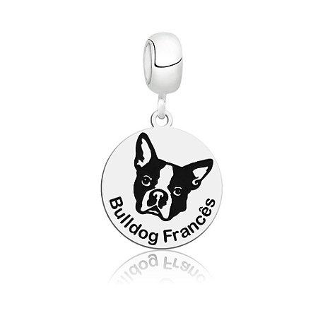 Berloque de Prata Cachorro Raça Bulldog Francês