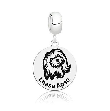 Berloque de Prata Cachorro Raça Lhasa Apso