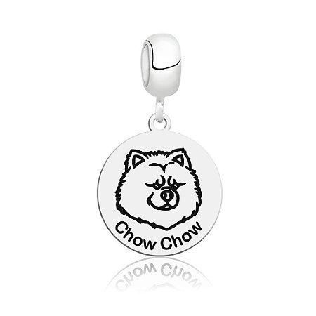 Berloque de Prata Cachorro Raça Chow Chow