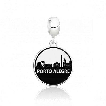 Berloque de Prata Cidade de Porto Alegre RS