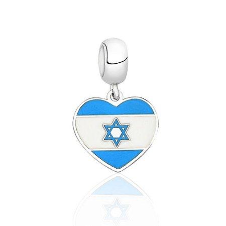 Berloque de Prata Bandeira de Israel
