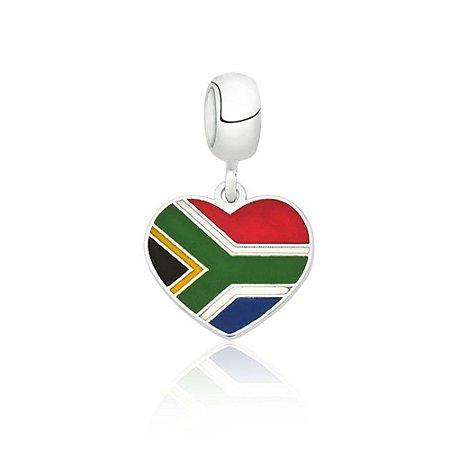 Berloque de Prata Bandeira da África do Sul