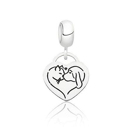 Berloque de Prata Coração Pet