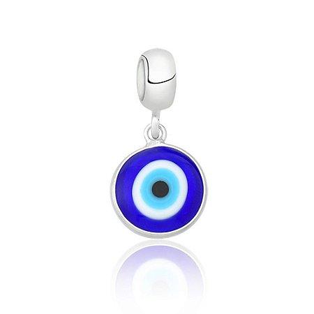 Berloque de Prata Olho Grego Azul