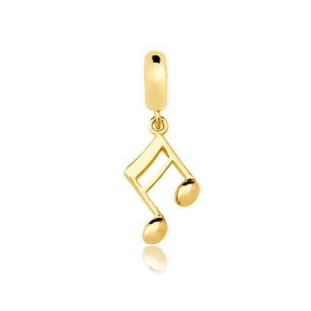 Berloque Nota Musical Folheado a Ouro
