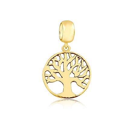 Berloque Pingente Árvore da Vida Folheado a Ouro