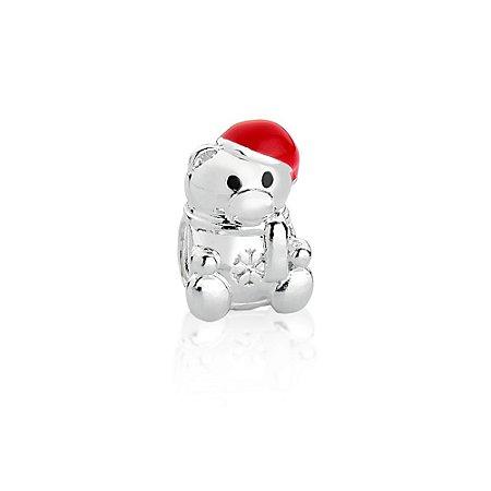Berloque de Prata Ursinho de Natal