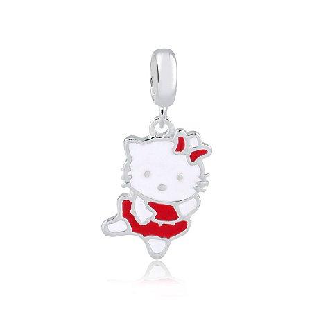 Berloque de Prata Pingente Hello Kitty