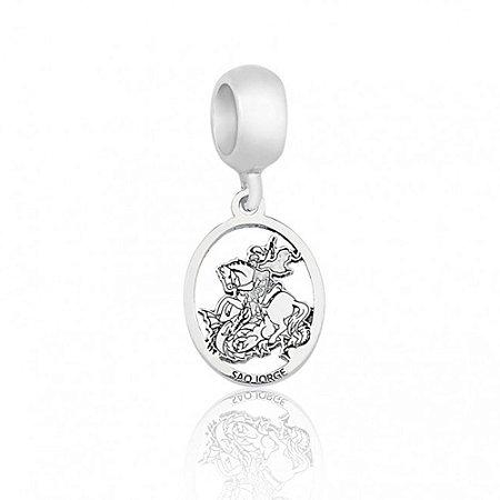 Berloque de Prata Medalha São Jorge