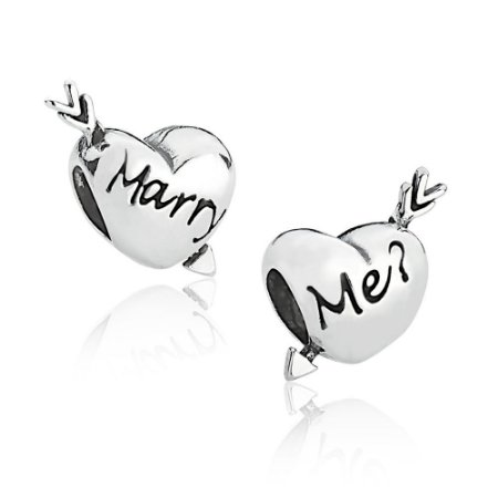 Berloque de Prata Coração Casa Comigo