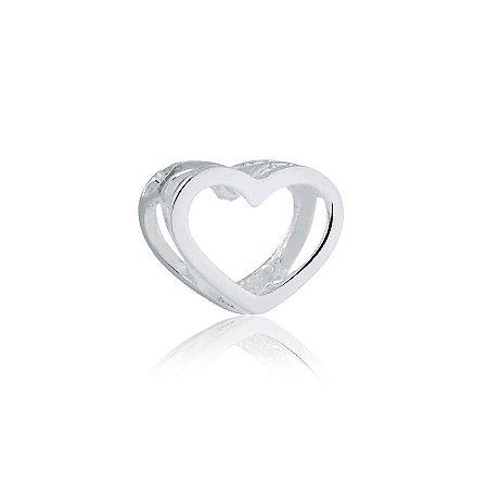Berloque de Prata Separador Coração