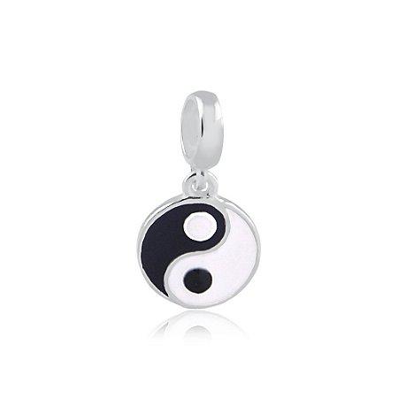Berloque de Prata Pingente Yin Yang