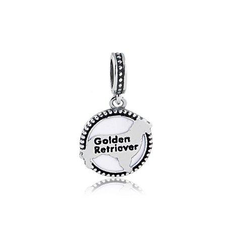 Berloque de Prata Pingente Raça Golden Retriever