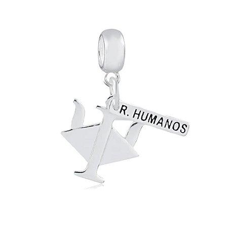 Berloque de Prata Símbolo do Recursos Humanos