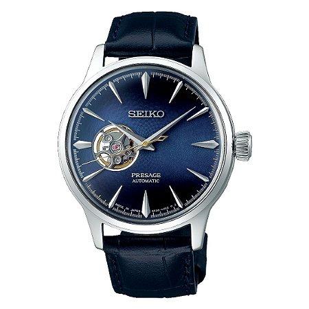 Relógio Seiko Presage Blue Moon Open Heart SSA405J1
