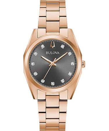 Relógio Bulova Surveyor Diamond 97P156 feminino