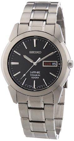 Relógio Seiko Quartz  SGG731B1 titanium safira