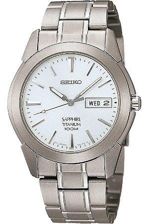 Relógio Seiko Quartz  SGG727B1 titanium safira