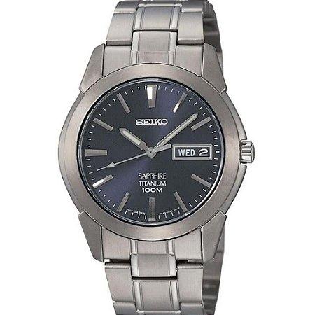 Relógio Seiko Quartz  SGG729B1 Titanium Safira Masculino