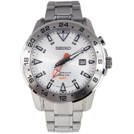 Relógio Seiko Sportura Sun025p1 KINETIC GMT MADE JAPAN