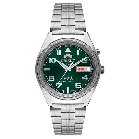 Relogio Orient Automatico 469SS083 2sx masculino Verde