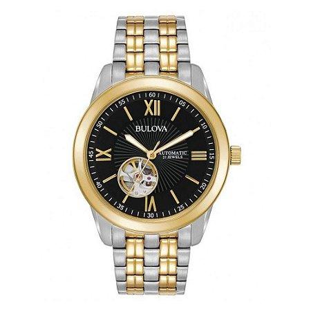 Relógio Bulova SS automático 98A168 / WB32004P masculino