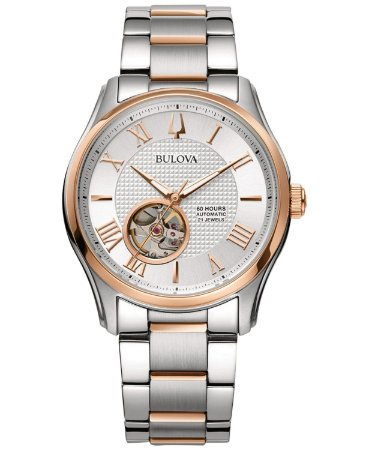 Relógio Bulova Wilton automático 98A213 masculino Safira