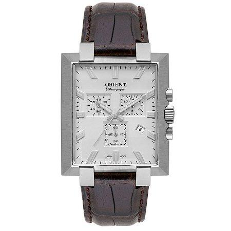 Relógio Orient Unique Masculino Cronógrafo Gbscc016 Prata ** LANÇAMENTO**