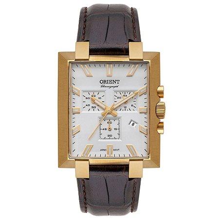 Relógio Orient Unique Masculino Cronógrafo Ggscc002 Dourado ** LANÇAMENTO**