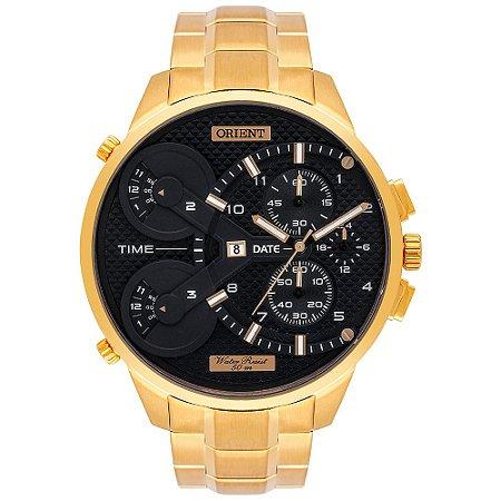 Relógio Orient Xl Masculino Cronógrafo Mgsst003 Dourado ** LANÇAMENTO**