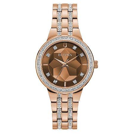 Relógio Bulova Phantom Swarovski 98l266 Quartz feminino