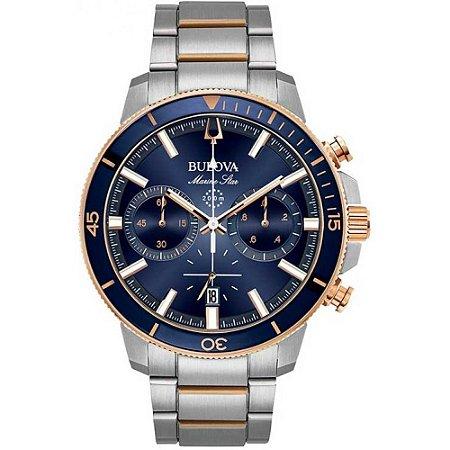 Relógio Bulova Marine Star Quartz Masculino 98b301