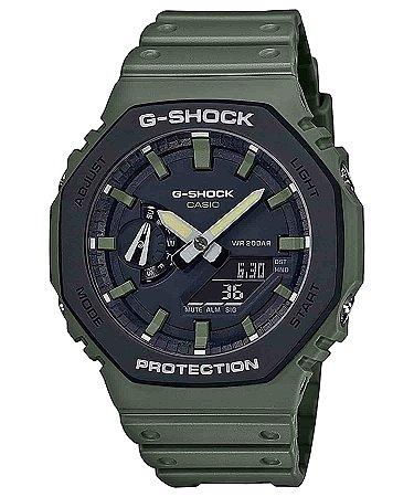 Relogio Casio G-shock Carbon Core Guard Ga-2110su-3adr OAK verde