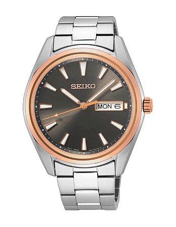 Relógio Seiko Quartz Sur344B1 Safira Masculino