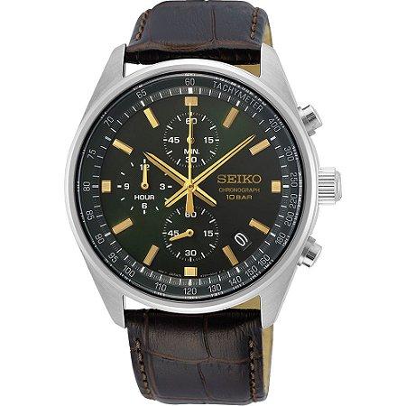 Relógio Seiko cronograph QUARTZ SSB385B1 masculino