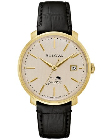 Relógio Bulova Sinatra The Best is Yet to Come Corda Manual 97b195 masculino