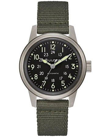 Relógio Bulova Militar Hack automático 96a259 masculino